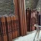 深圳 奇雅木业 楼梯扶手 实木花格栏杆 室外防腐木护栏
